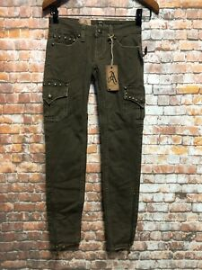 ANTIQUE-RIVET-Women-s-Skinny-Jeans-size-30-Stretch-Zip-Ankle-NEW-K468