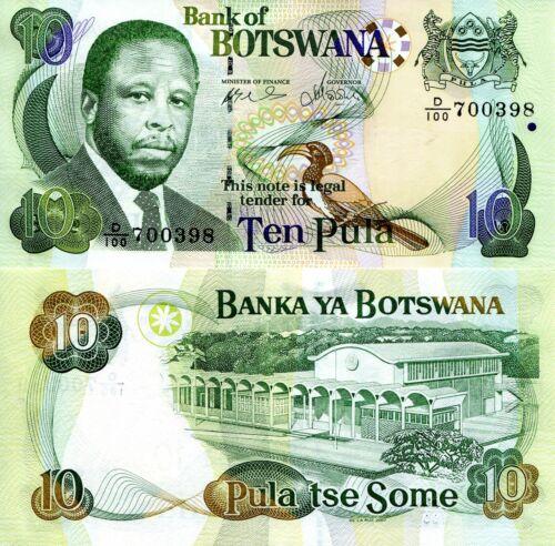 BOTSWANA 10 Pula Banknote World Paper Money UNC Currency Pick p24b 2007 Bill