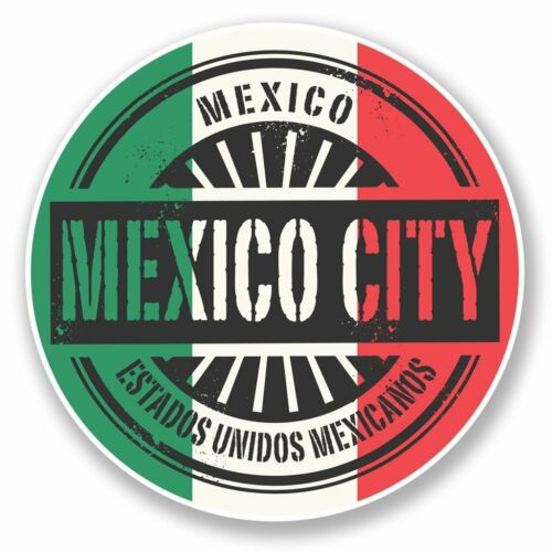 2 x Mexico City Vinyl Sticker Laptop Travel Luggage Car #6751