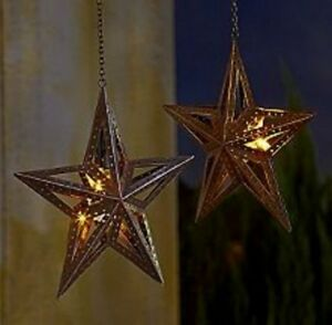 1 Hanging Led Rustic Barn Farm Western Cowboy Texas Star
