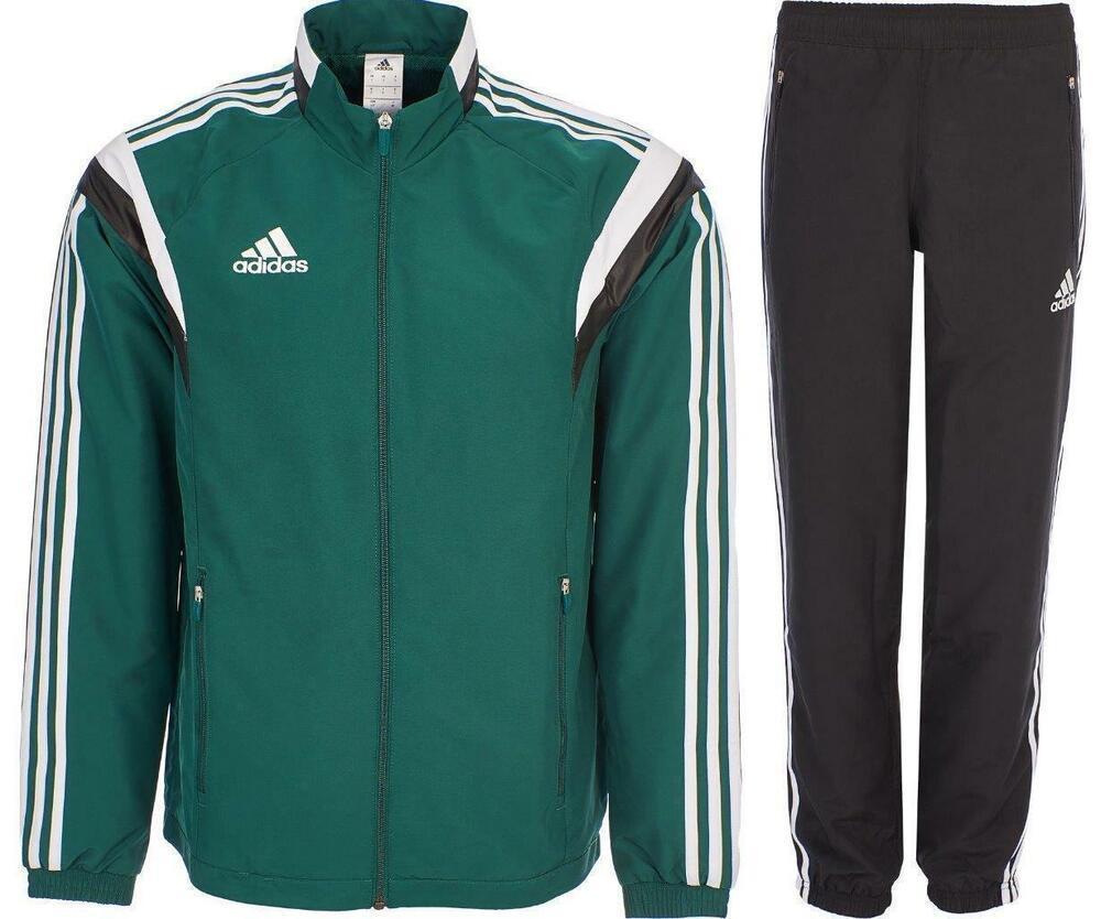 Nouveau Adidas Survêtement Homme Woven Training Casual Track Top Pantalon Vert Taille S