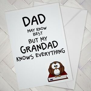 Image Is Loading Fathers Day Birthday CARD Grandad Grandpa Cheeky Joke