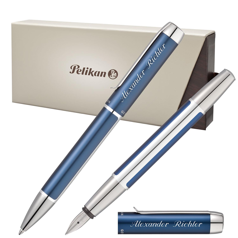 Pelikan Schreibset PURA mit Gravur Kugelschreiber Füller - Modellfarbe wählbar | Trendy