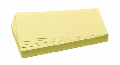 FRANKEN Moderationskarte 95 x 205 mm selbsthaftend gelb 100 Karten