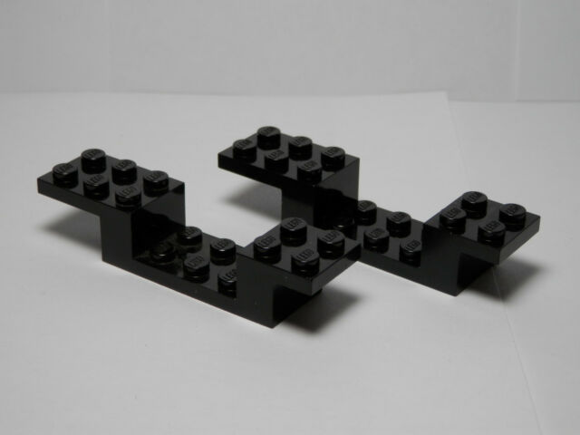 Lego 5 New Black Bracket 1 x 2-1 x 4 Vehicle Pieces
