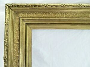 ANTIQUE-FITS-14-X19-034-GOLD-PICTURE-FRAME-WOOD-GESSO-ORNATE-FINE-ART-COUNTRY