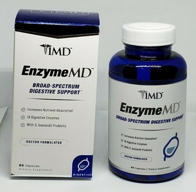 1MD EnzymeMD Digestive Enzymes Supplement Doctor Formulated Digestive Support