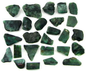 500-00-Ct-Natural-Raw-Green-Emerald-Loose-Gemstone-Rough-Crystal-26-Pc-Lot-11035