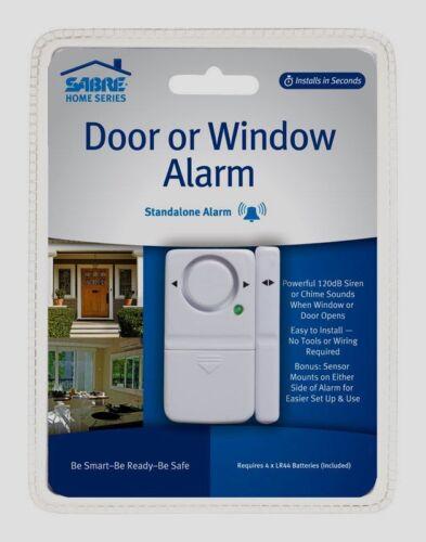SABRE DOOR or WINDOW ALARM Sliding Patio Basement Garage Car Home Safety LOUD!!!