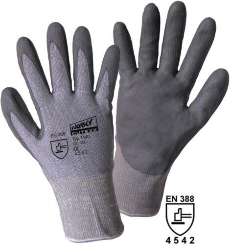 Pu-capa en 388 protección clase 5 1140 worky m Corte guantes de protección talla 8
