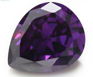 Romantic-13x18mm-18-22ct-AAAAA-Pear-Purple-Amethyst-Diamonds-Cut-VVS-Loose-Gems