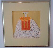 Gemälde in Acryl u. Blattgold, Kunstwerk,43x43 / mit Rahmen 77 cm