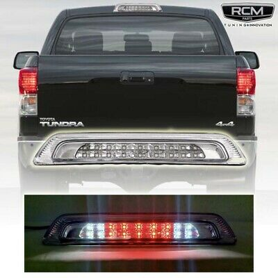 Dual Row LED Rear High Mount Red Housing 3rd Tail Brake Light Cargo Lamp Replacement for Toyota Tundra 07-18