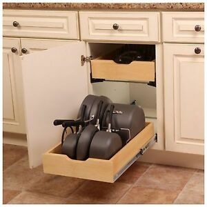 Charming Image Is Loading Pot Pan Cookware Kitchen Cabinet Drawer Organizer Storage
