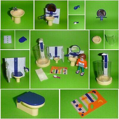 Playmobil Badezimmer zum Citylife Tisch Dusche Toilette Waschbecken