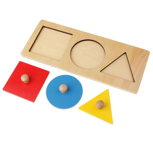 Kids Child Montessori Early Learning 3 Color Geometry Stacking Matching Toys