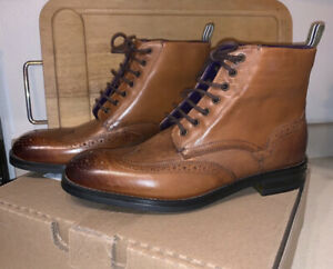 Ted-Baker-London-Wingtip-Oxford-Boots-Sz-8-265-00-Retail