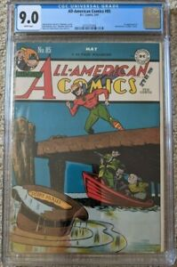 All-American-Comics-85-CGC-9-0-1st-Appearance-Sportsmaster-Green-Lantern-1947