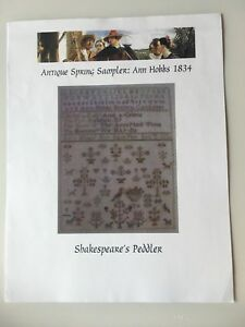 A Saviour/'s Praise Sampler Shakespeare/'s Peddler Cross Stitch Pattern