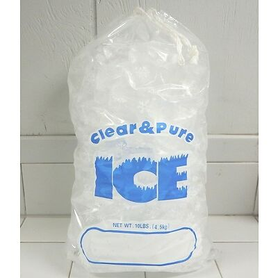 CLEAR & PURE ICE 20 LB DRAWSTRING ICE BAGS / 250 COUNT *NEW IN BOX*