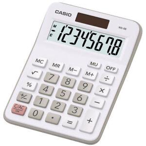 Casio MX-8B 8-Digit Desktop Calculator - White