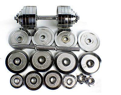 New Chrome Painted Cast Iron Adjustable Dumbbell kit set 200 105 100 52.5 lbs