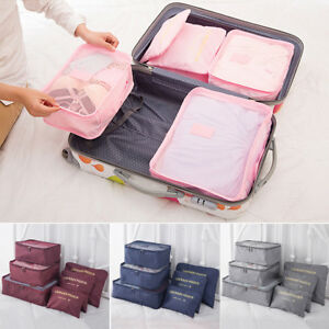 Image Is Loading 6pcs Waterproof Travel Storage Bags Clothes Ng Cube
