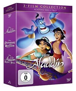 Aladdin-parte: 1, 2 & 3 [3 DVD] (neu&ovp) WALT DISNEY CLASSICO