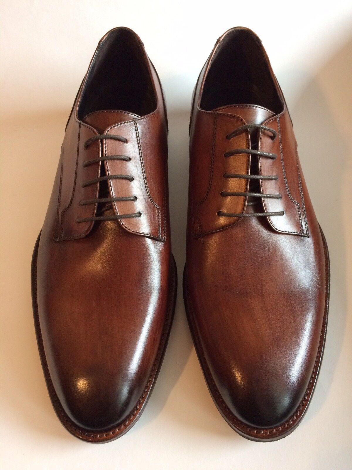 JOHNSTON & MURPHY Made In ITALY Oxfords Dress Scarpe Plain Toe marrone US Taglia 10 D
