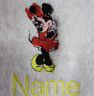 peignoirs de bain Avec Personnalisé Nom Mickey Mouse motif brodé sur les serviettes
