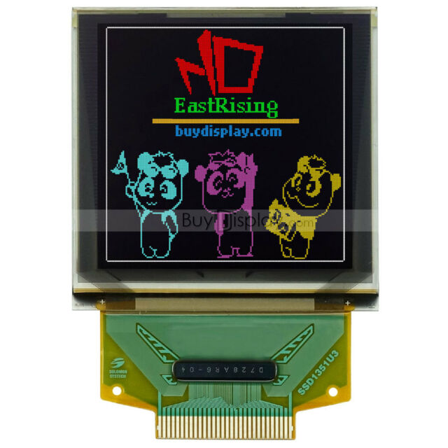 """Serial SPI 1.5""""Color OLED Display 128x128 Graphic Module for Arduino, w/Tutorial"""
