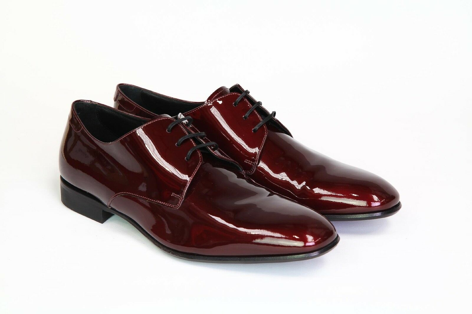 Salvatore Ferragamo Men's Shoes Shiny red Oxfords  9.5 US 43.5 NEW