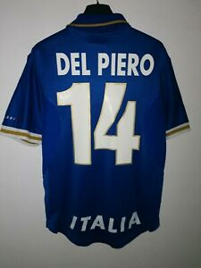 Details about Maglia Italy DEL PIERO EURO 1996 Nike Trikot Maillot, Yonne Shirt National Italy S- show original title