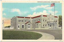 American Legion Home in Springfield MO Postcard