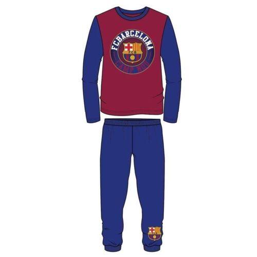 Boys Kids Children Teenage FC Barcelona Pyjamas PJ/'s Pyjama Set Sleepwear 4-13Y