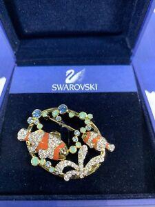 Swarovski-Crystal-SCS-Harmony-2005-Clown-Fish-Pin-Broach-1514933-MIB-W-COA