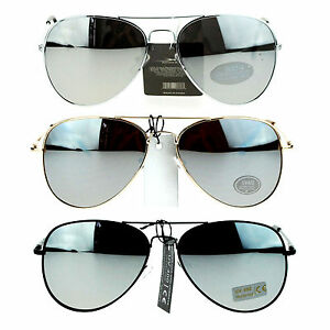 21aef8fa0b Image is loading Classic-Mens-Reflective-Silver-Mirror-Lens-Motorcycle-Cop-