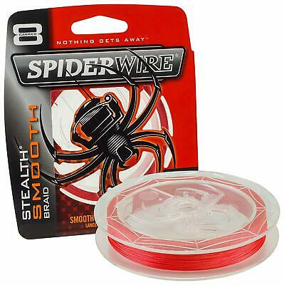 Spiderwire Stealth Smooth 8 Carrier Braid Red Assorted Strengths Fishing