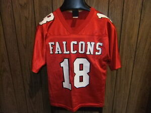 purchase cheap 755f3 1e60d Details about vintage Atlanta Falcons football jersey med youth red Wilson  80s Calvin Ridley