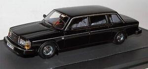 Modèles à l'échelle Matrix 12106-022, Limousine Volvo 264te, 1978, Noir, 1:43
