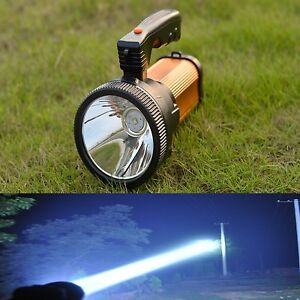 1* USB Rechargeable Handheld LED Hunting Spot Light Lamp Camping Hiking Torch