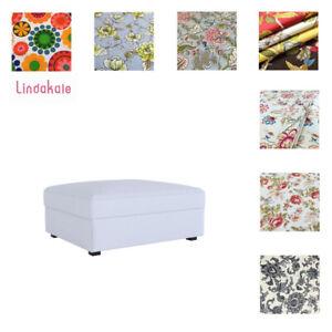 Custom-Made-Cover-Fits-IKEA-Kivik-Ottoman-Footstool-Cover-Patterned-fabrics