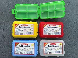 Tablettenbox-Pillendose-Tablettendose-Pillenbox-7-Tage-Medikamentenbox-farbig