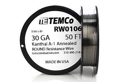 TEMCo Kanthal A1 wire 30 Gauge 50 Ft Resistance AWG A-1 ga | eBay