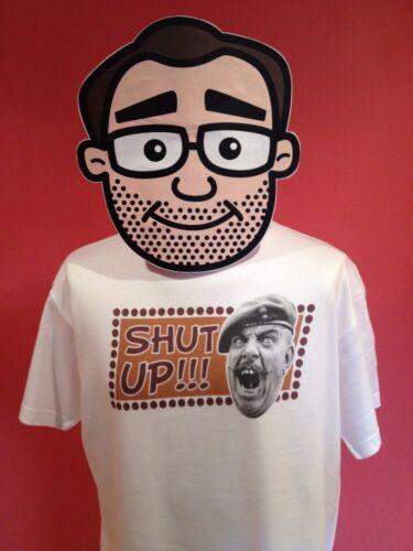 It Ain/'t Half Hot Mum White Shirt Windsor Davies Shut Up T-Shirt