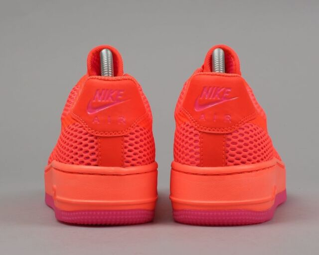 Nike Women's AF1 Low Upstep Br Crimson Red Textile Trainers Shoes UK 6_6.5_7_7.5