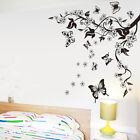 ADESIVI MURALI WALL STICKERS FIORI Farfalla ALBERI Adesivi da parete Rimovibile
