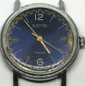 Ussr-Wostok-17-Jewels-Watch-Vintage-Vostok-Soviet-S-Men-Wrist-Rare-Mechanical