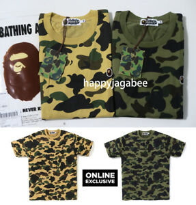 S-3XL-A-BATHING-APE-Men-039-s-ONLINE-EXCLUSIVE-1ST-CAMO-ONE-POINT-TEE-2colors-New