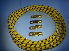 1920s Vintage Austin 7 Chummy Spark Plug HT Lead Set Magneto Type